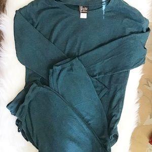 EUC Felina Teal 2 Piece Loungewear Pajama set